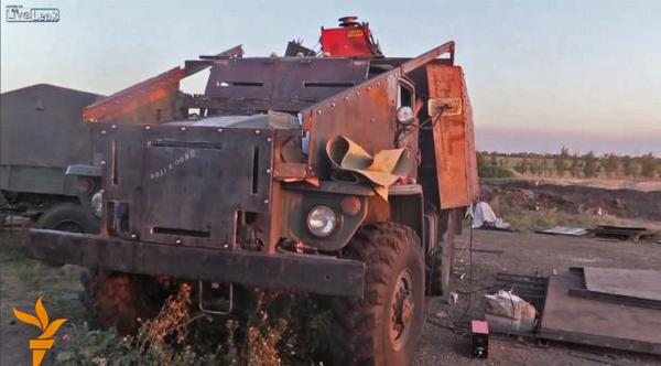 Ukrainian soldiers built an improvised armored truck, A-Team style