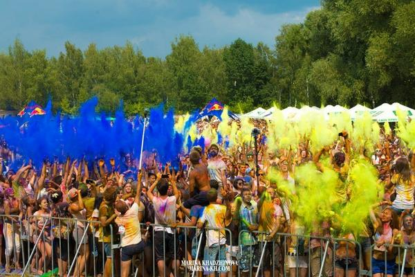Festival of colors in Kyiv
