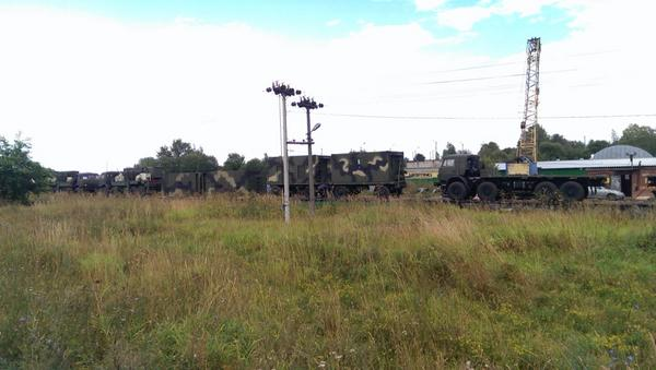 Rostov region. Russian army trucks near border of Ukraine