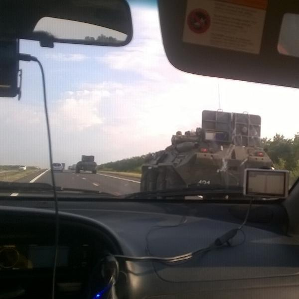 Military convoy in Rostov region