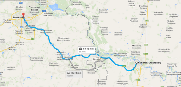 Russian aid convoy turning at Kamenets-Shakhtinsky for Ukrainian border, per @RolandOliphant