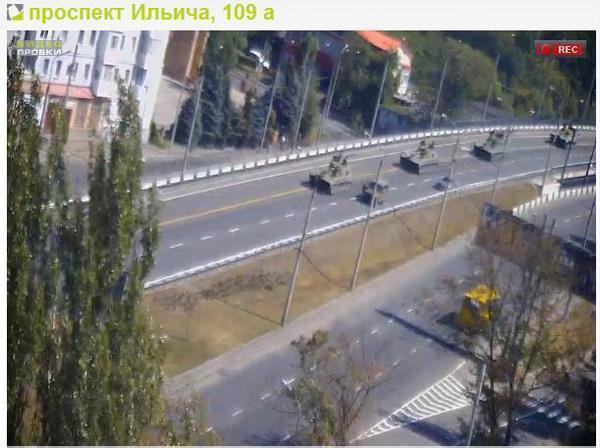 Russian tanks in Donetsk