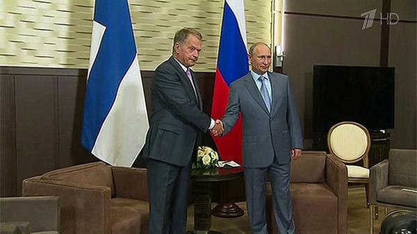 The presidents of Russia and Finland met in Sochi