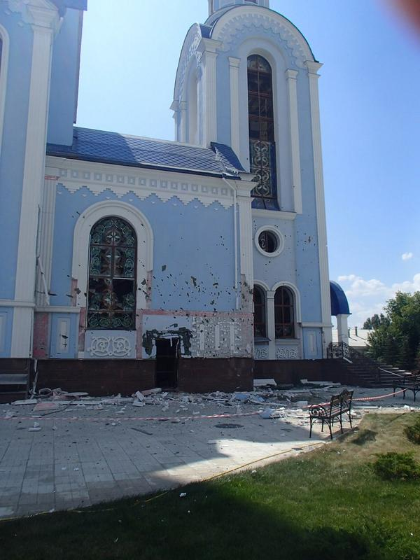the Cathedral in the center of Luhansk