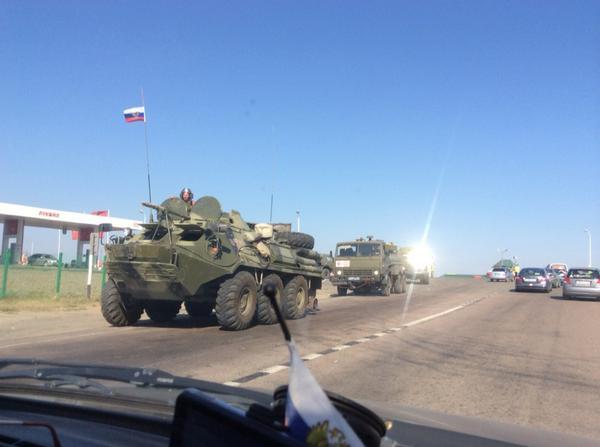 Russian APCs and trucks