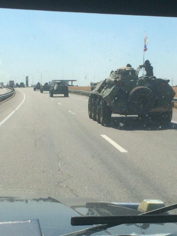 Russian military convoy in Ukraine