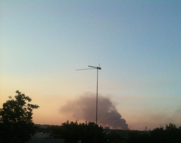 Something burning near Yasinuvata checkpoint