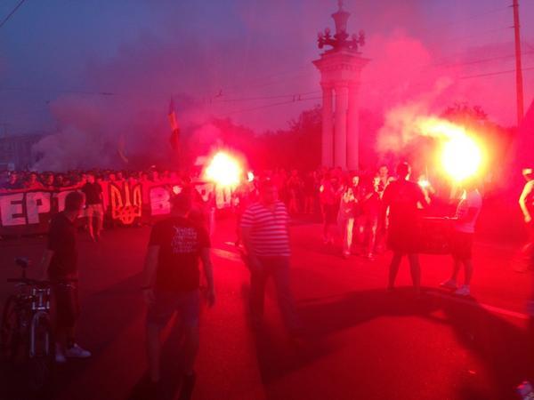 Patriots rally in Zaporizhia