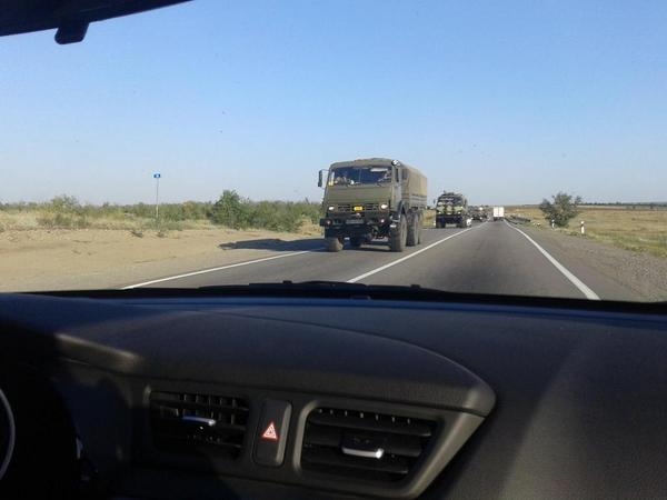 Convoy of 40 military vehicles went to the border of Ukraine