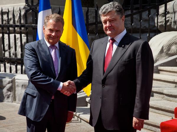 President Poroshenko met with President of Finland Sauli Niinistö