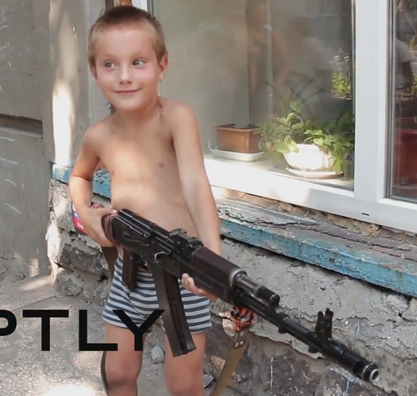 Militants gave AK to kid, and Russia Today film it