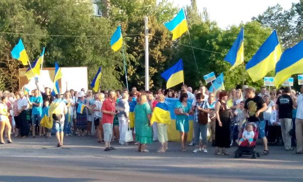 Today's rally in Kramatorsk
