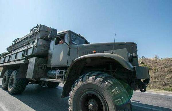 AFP team in Donetsk, Russia today saw a vehicle with containers marked as transport for Buk air defence missiles.