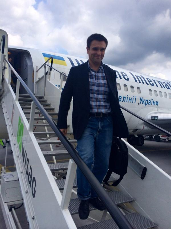 MFA @PavloKlimkin arrived in Berlin to participate in the meeting  of Germany, France, Ukraine and Russia
