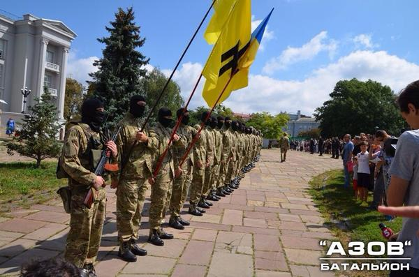 75 people of Azov battalion go to ATO zone