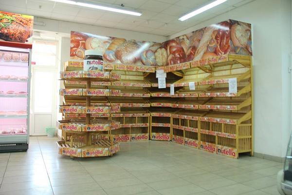 Empty streets, closed shops, no working bank machine, and the 1 supermarket open in Krasnodon, Luhansk reg.