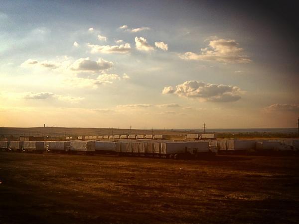 Humanitarian trucks still wait on the border