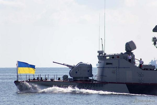 Rehearsal of naval parade in Odessa