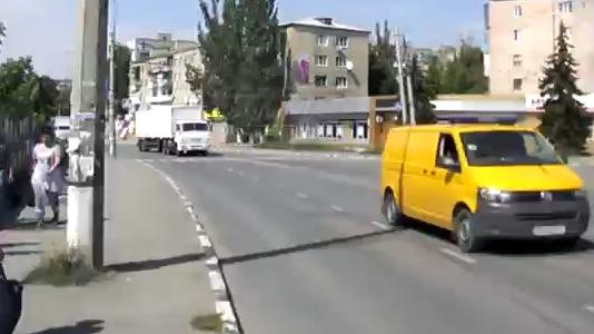 Convoy was divided into at least two. One has already passed back through the Krasnodon, the other returns from Molodogvardeysk