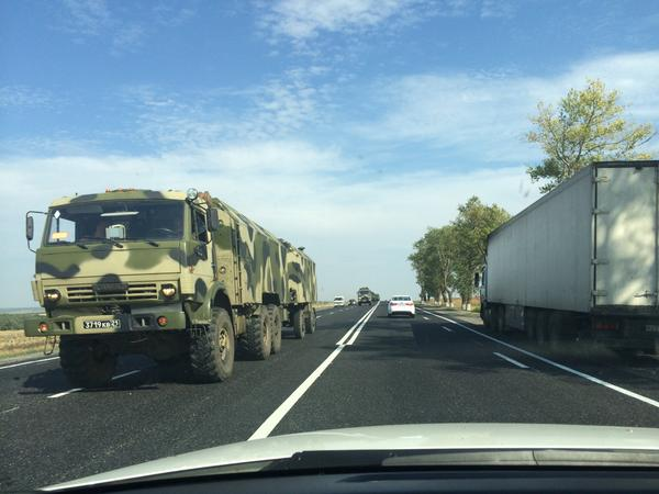 Convoy of Russian army going to the border of Ukraine