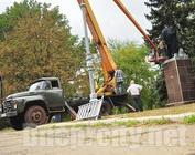 Statue of Lenin was decapitated In Kriviy Rig