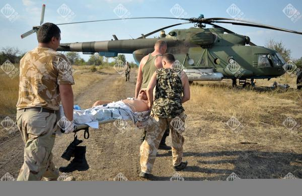 The evacuation of the wounded in Illovaysk
