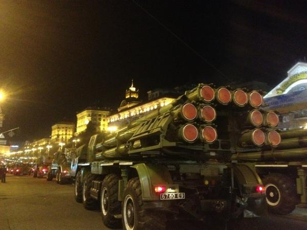 Ukraine practicing for its upcoming Independence Day parade in Kyiv