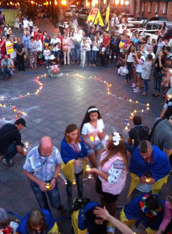 Today Odessa commemorated killed at Maidan and in the conflict zone