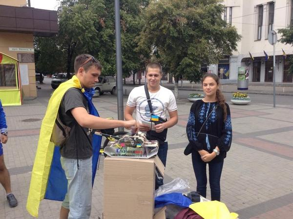 Today in Dnipro was held a bike ride dedicated to the flag day