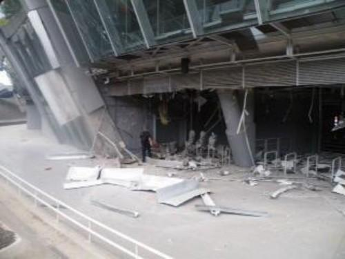 Donbass arena was hit by artillery. Built in 2012 for $400M