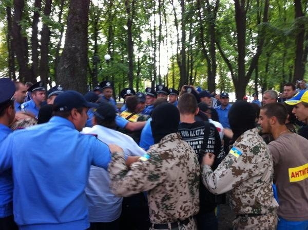 Fight with the police in Kharkiv