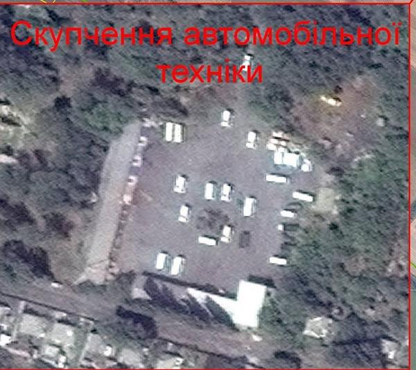Russian trucks were spotted yesterday at Motor Sich in Snizhne