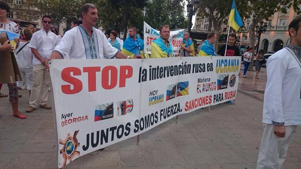 Rally in Valencia in support of Ukraine