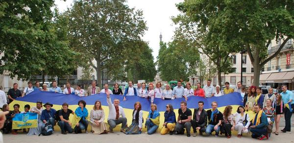 Paris celebrated the Day of State flag of Ukraine