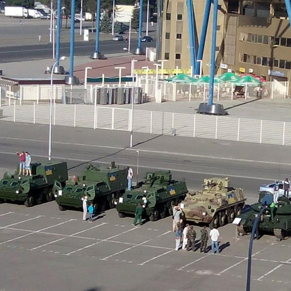 Exhibition of military equipment in Kharkiv