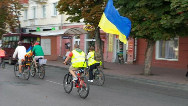 Bike ride to the Independence Day of Ukraine Chernyhiv