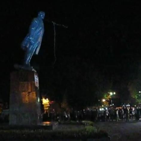Lenin was downed In Pavlograd