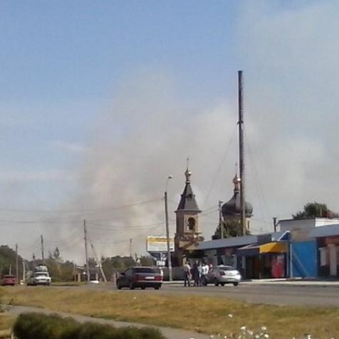 Novoazovsk is on fire