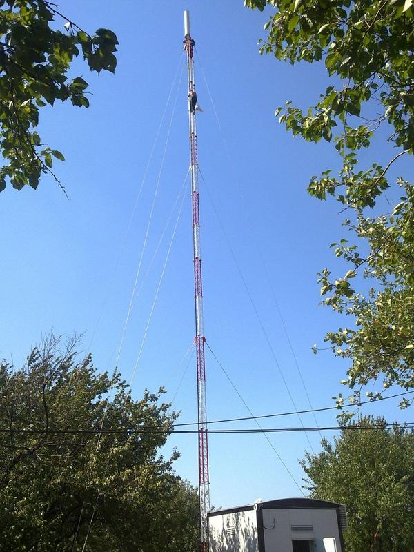 New TV-tower on Karachun in Slavyansk