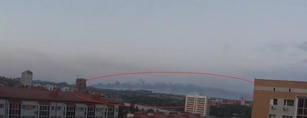 Smoke seen from Donetsk