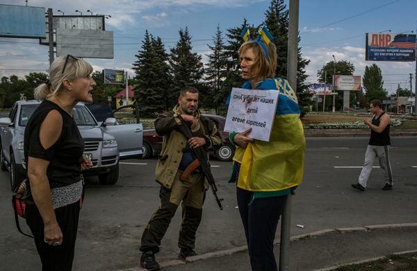 Via @alexmazuka: Scene from the centre of Donietsk