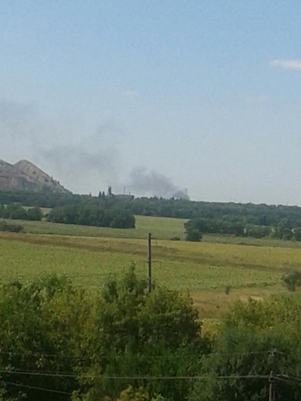 Donetsk Aleksandrovka burns for the second time today
