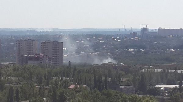 Vishnevsky hospital is burning after shelling