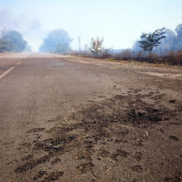 2 hour ago the outskirts of Novoazovsk were shelled again. The town itself seen some damage too.