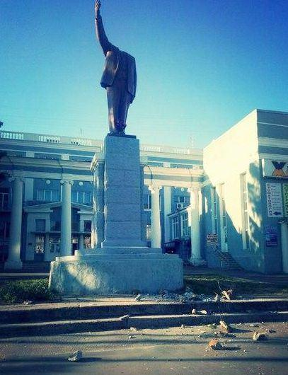 Kharkiv Lenin lost his head too