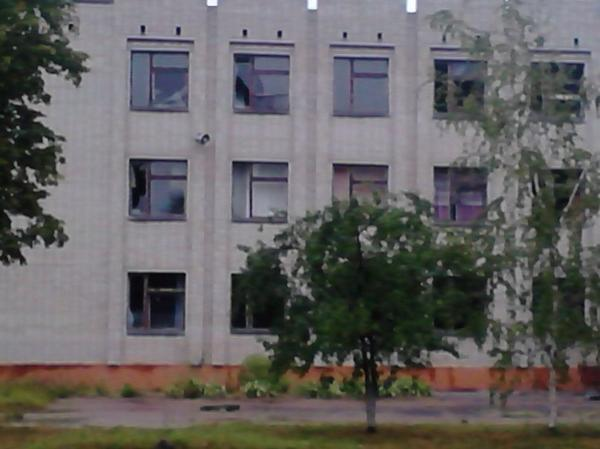 In Shostka, Sumy, terrorists shelled local police office.