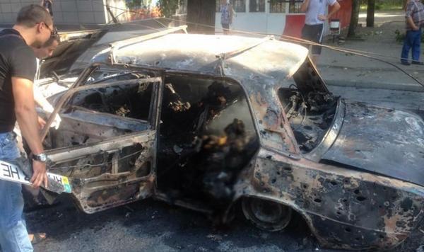 3 civilians burned in the car in Donetsk