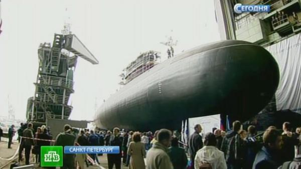 In St. Petersburg has launched a submarine Stary Oskol for the Black Sea fleet