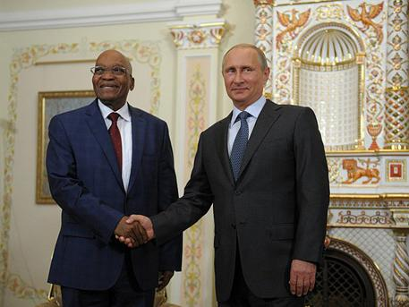 Vladimir Putin held talks with the President of South Africa Jacob Zuma