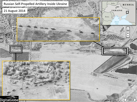 New NATO satellite images show Russian forces engaged in military operations inside Ukraine